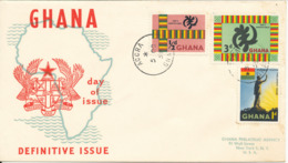 Ghana FDC 5-10-1959 Definitives Complete Set Of  With Cachet - Ghana (1957-...)