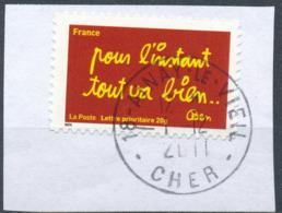 """France - Série """"Sourires"""" Par Ben YT A614 Obl. Cachet Rond Manuel Sur Fragment - France"""