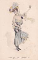 Liberty  ,  Brindisi All'anno Nuovo  -  Ill.  Zasche Theodor  -  Edit.  Theo Stroefer  ,  Ser. 514  ,  Nr.  6 - Illustratori & Fotografie