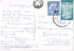 34570. Postal Aerea LUXOR (Egypt) 1961. Vista THEBES, Templo De Hatshepsut - Egipto