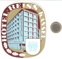 ETIQUETA DE HOTEL  -HOTEL REISS  -KASSEL  -ALEMANIA - Etiquetas De Hotel
