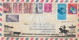 7521FM- CORRIDA, BULL FIGHTING SPECIAL COVER, HOTEL HIPOCAMPO HEADER LETTER, NICE FRANKING, STAMPS, 1971, SPAIN - 1931-Hoy: 2ª República - ... Juan Carlos I