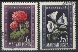 Ungarn Hungary 1950. Mi 1115-1116 Flora O - Ungarn