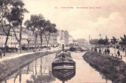 CPA  : Batellerie Toulouse (31) Boulevard De La Gare  Péniches Sur Le Canal Du Midi  TBE  Labouche 55 - Houseboats