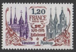 France Neuf Sans Charnière  1978  Rattachement De Valenciennes Et Maubeuge Territoire  Histoire YT 2016 - Francia