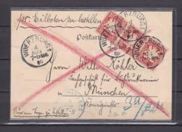 Bayern - 1900 - Postkarte Mit Ankuftstempel Frankiert Mit Dreier - Bayern
