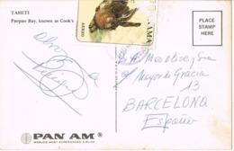 34574. Postal Aerea TOCUMEN (Panama) 1967. Vista Paopao Bay De TAHITI - Panamá