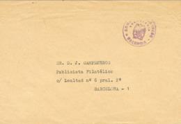 34575. Carta Franquicia Administracion Correos VALENCIA 1972 A Barcelona - 1931-Hoy: 2ª República - ... Juan Carlos I