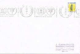 34576. Carta SAGUNTO (Valencia) 1992. Rodillo Especial. Centenario Cofradia De La Sangre - 1931-Hoy: 2ª República - ... Juan Carlos I