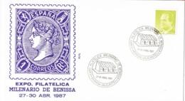 34577. Carta BENISSA (Alicante) 1987. Exposicion Milenario De BENISSA - 1931-Hoy: 2ª República - ... Juan Carlos I