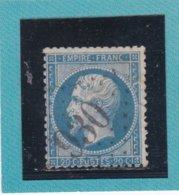 N° 22  GC 930   BUREAU DE CHATEAUDUN - REF ACDIV - 1862 Napoleon III