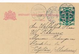 Nederlands Indië - 1924 - 7,5 Opdruk Op 5 Cent Cijfer, Briefkaart G33 Van Indramajoe Via Madioen Naar LB Patjitan - Nederlands-Indië