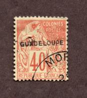 Guadeloupe N°24 Oblitéré TB Cote 60 Euros !!!RARE - Guadeloupe (1884-1947)