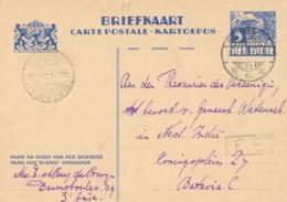 Nederlands Indië - 1935 - 5 Cent Karbouwen, Briefkaart G56 Van LBnr Soerabaja/21 Naar Batavia-Centrum/11 - Nederlands-Indië
