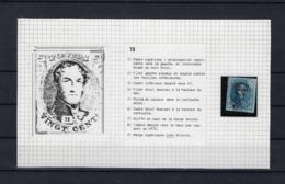 N°7 (plaat III Positie 73) GESTEMPELD MET 4 MARGES SUPERBE - 1851-1857 Médaillons (6/8)