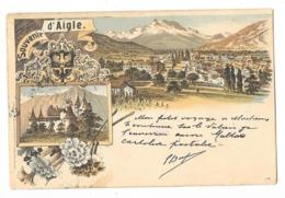 AIGLE  (Suisse) Carte Illustrée Type GRUSS 1899 - VD Vaud