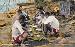 Océanie.  Polynésie Française    . Tahiti   Amuraamaa   Déjeuner        (voir Scan) - Tahiti