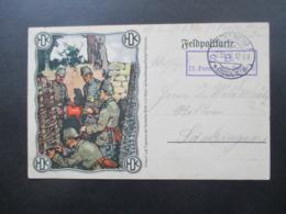 1. WK Feldpost PK 1916 Bild PK HDK Hackethal Draht Und Kabel Werke Hannover Soldaten Im Schützengraben! - Brieven En Documenten
