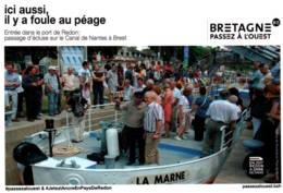CPM - REDON - ENTREE Dans LE PORT - Passage D'écluse Sur Le CANAL De NANTES à BREST .... - Redon