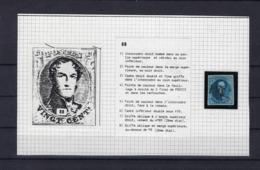 N°7 (plaat III Positie 88) GESTEMPELD MET 4 MARGES P120 Punt Tournai COBA € 10,00 SUPERBE - 1851-1857 Médaillons (6/8)