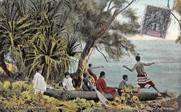 Océanie.  Polynésie Française    . Tahiti     Pêche Au Harpon       (voir Scan) - Tahiti