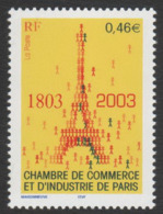 France Neuf Sans Charnière  2003 Chambre De Commerce Et D'industrie CCI  Tour Eiffel  YT 3545 - Neufs