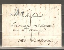 Lot  315 // LETTRE A/C  75 NIORT Du 15 Septembre 1812 - France