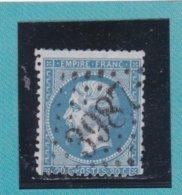 N° 22  GC 3987   BUREAU DE TOURCOUING  - REF ACDIV - 1862 Napoleon III