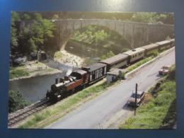 Chemin De Fer Du Vivarais Ligne Tournon Lamastre Douce Plage Et Le Grand Pont Sur Le Doux - Trains