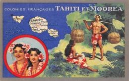 Océanie.  Polynésie Française    . Tahiti Et Moorea .    Imagerie Du Lion Noir     (voir Scan) - Tahiti