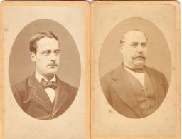 Lot De 2 Photos De Célébrités, Eugène Et René Eschassérieux, Députés De Charente-Maritime, Cdv Ca 1870, Bonapartisme - Célébrités