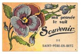 Cpa...ma Pensée Te Suit Souvenir De Saint-Père-en-Retz.....(Loire-Inf.)..1938 - Frankrijk
