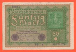 Germania 50 Marchi 1919 Weimar Republic Note - [ 3] 1918-1933: Weimarrepubliek