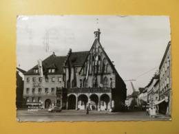 CARTOLINA POSTCARD GERMANIA DEUTSCHE 1960 AMBERG RATHAUS BOLLO THEODOR HEUSS OBLITERE' POSTKARTEN - Amberg