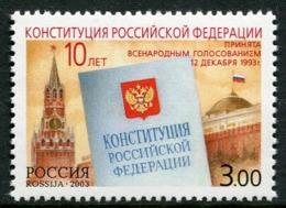 RUSSIA 2003 Constitution Sheetlet  MNH / **.  Michel 1126 - 1992-.... Föderation