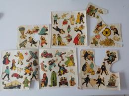 Journal De Tintin Decalcomanies Afdrukplaatjes Kuifje Tournesol Haddock Les Dupont Chlorophylle Chick Bill - Altri Oggetti Fumetti