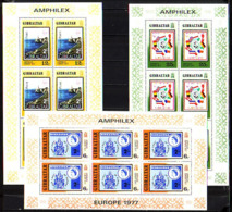 GIBRALTAR - 1977 - Amphilex - Europe 1977 - 3 PF De 6 Tim.** - Gibilterra
