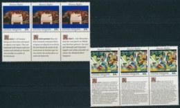 Verenigde Naties/United Nations/Nation Unis New York 1989 3 Str Mi: 595-596 Yt:  (PF/MNH/Neuf Sans Ch/**)(4891) - Ongebruikt