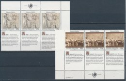 Verenigde Naties/United Nations/Nation Unis New York 1990 3 Str Mi: 606-607 Yt:  (PF/MNH/Neuf Sans Ch/**)(4892) - Ongebruikt