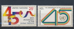 Verenigde Naties/United Nations/Nation Unis New York 1990 Mi: 602-603 Yt: 574-575 (PF/MNH/Neuf Sans Ch/**)(4897) - Ongebruikt