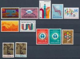 Verenigde Naties/United Nations/Nation Unis New York 1972 Mi: 242-253 Yt:  (PF/MNH/Neuf Sans Ch/**)(4902) - Ongebruikt