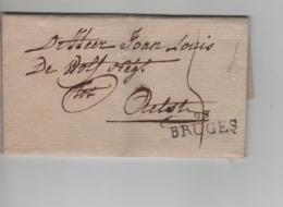 CBPN60/ Précurseur LAC Daté De Brugge 1799 Griffe Bruges 91 > Aalst Port 5 - 1794-1814 (French Period)