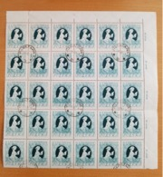 1957 Poland Polen Pologne, Mi.1013, Yv. 913, Fi.885 , Bogenteil Mit 30 Bfm. O Gestempelt, Tag Der Briefmarke, S. Scans - 1944-.... Republik