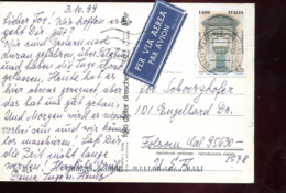 Repubblica (1999) - Cartolina Posta Aerea Per Gli U.S.A. - 6. 1946-.. Repubblica