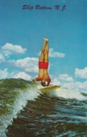 Surfboarding (Surfing) , The Surf Rider , SHIP BOTTOM , New Jersey , 50-60s #2 - Cartoline