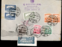 HUNGARY - 1923.HUNGARY- CCUBA. Budapesto To Havana/Cuba. Multicolor Franked (8 Stamps) On Reverse. At Arrival It Was Sea - Hungary