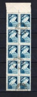 Poland Polen 1957, Mi.1034, Fi. 1034 O Gestempelt, Bogenteil A 10 Bfm, Wieniawski, S. Scan - 1944-.... Republik