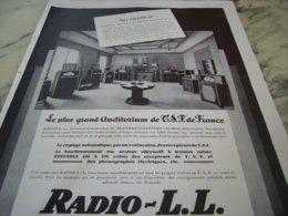 ANCIENNE PUBLICITE INVITATION RADIO LL 1929 - Music & Instruments