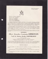 LIEGE Albert OPHOVEN Veuf GOETSBLOETS Docteur En Droit  1860-1947 Famille DALLEMAGNE - Todesanzeige