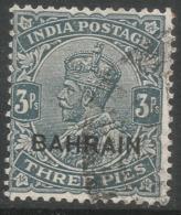 Bahrain. 1933-37 KGV Stamps Of India O/P. 3p Used. SG 1 - Bahrain (...-1965)